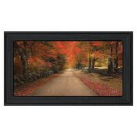"""October Lane"" By Robin-Lee Vieira, Printed Wall Art, Ready To Hang Framed Poster, Black Frame"