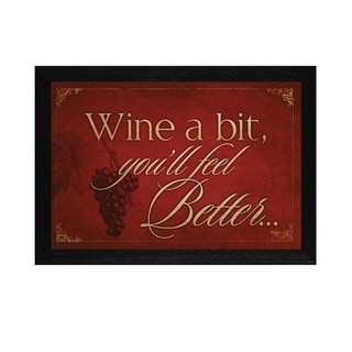 """Wine a Bit"" By Mollie B., Printed Wall Art, Ready To Hang Framed Poster, Black Frame"