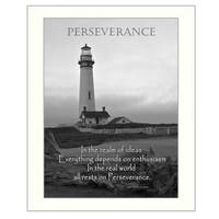 """Perseverance"" By Trendy Decor4U, Printed Wall Art, Ready To Hang Framed Poster, White Frame"