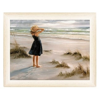 """""""Black Dress"""" By Georgia Janisse, Printed Wall Art, Ready To Hang Framed Poster, White Frame"""