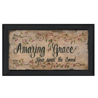 "''Amazing Grace"" by Gail Eads Printed Framed Wall Art"
