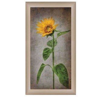 """Sunflower II"" By Lori Deiter, Printed Wall Art, Ready To Hang Framed Poster, Beige Frame"