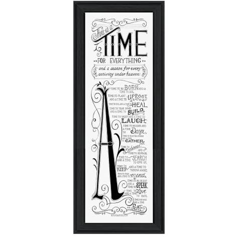 """Time for Everything"" By Deb Strain, Printed Wall Art, Ready To Hang Framed Poster, Black Frame"