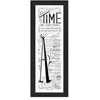 """""""Time for Everything"""" By Deb Strain, Printed Wall Art, Ready To Hang Framed Poster, Black Frame"""