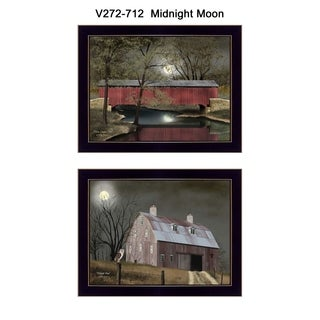 """Midnight Moon"" Collection By Billy Jacobs, Printed Wall Art, Ready To Hang Framed Poster, Black Frame"