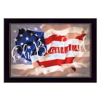 """Oh Beautiful America"" By Lauren Rader, Printed Wall Art, Ready To Hang Framed Poster, Black Frame"