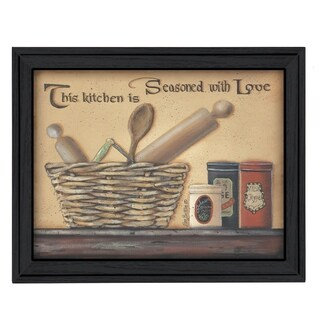 """Seasoned with Love"" by Pam Britton Printed Framed Wall Art"