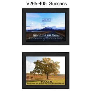"""Success"" Collection By Trendy Decor4U, Printed Wall Art, Ready To Hang Framed Poster, Black Frame"