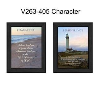 """""""Character"""" Collection By Trendy Decor4U, Printed Wall Art, Ready To Hang Framed Poster, Black Frame"""