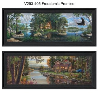 """""""Freedom Promise"""" Collection By Kim Norlien, Printed Wall Art, Ready To Hang Framed Poster, Black Frame"""