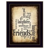 """Friends"" By Susan Boyle, Printed Wall Art, Ready To Hang Framed Poster, Black Frame"