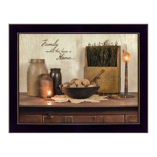 """Family Makes a House a Home"" by Susan Boyer Printed Framed Wall Art"