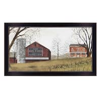 """""""Mail Pouch Barn"""" By Billy Jacobs, Printed Wall Art, Ready To Hang Framed Poster, Black Frame"""