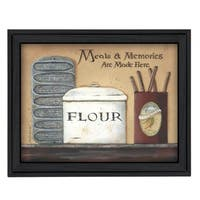 """""""Meals and Memories"""" By Pam Britton, Printed Wall Art, Ready To Hang Framed Poster, Black Frame"""