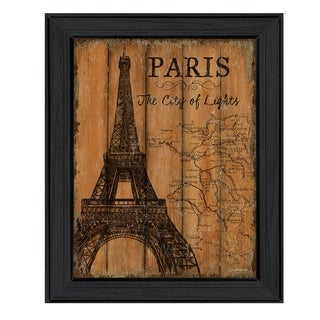 """Paris Travel Poster"" By Debbie DeWitt, Printed Wall Art, Ready To Hang Framed Poster, Black Frame"