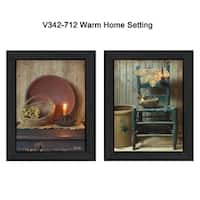 """""""Warm Home Setting"""" Collection By Susan Boyer, Printed Wall Art, Ready To Hang Framed Poster, Black Frame"""