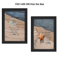 """""""A Gift from the Sea"""" Collection By Robin-Lee Vieira, Printed Wall Art, Ready To Hang Framed Poster, Black Frame"""