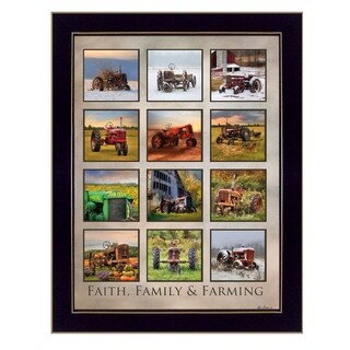 """Faith Family Farming"" By Lori Deiter, Printed Wall Art, Ready To Hang Framed Poster, Black Frame"