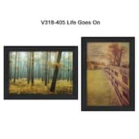 """Life Goes on"" Collection By M. Podt and K. Jennings, Printed Wall Art, Ready To Hang Framed Poster, Black Frame"