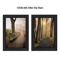 """""""After The Rain"""" Collection By Robin-Lee Vieira, Printed Wall Art, Ready To Hang Framed Poster, Black Frame"""