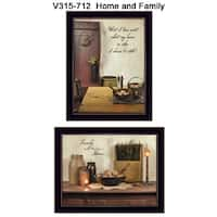 """Home and Family"" Collection By Susan Boyer, Printed Wall Art, Ready To Hang Framed Poster, Black Frame"