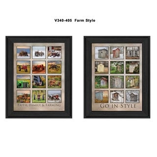 """Farming"" Collection By Lori Deiter, Printed Wall Art, Ready To Hang Framed Poster, Black Frame"