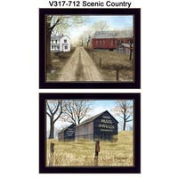 """Scenic Country"" Collection By Billy Jacobs, Printed Wall Art, Ready To Hang Framed Poster, Black Frame"