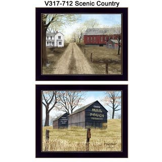 """""""Scenic Country"""" Collection By Billy Jacobs, Printed Wall Art, Ready To Hang Framed Poster, Black Frame"""