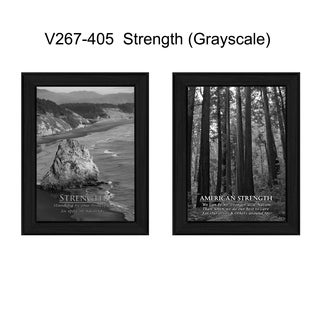 """Strength"" Collection By Trendy Decor4U, Printed Wall Art, Ready To Hang Framed Poster, Black Frame"