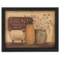 """Country Necessities"" By Pam Britton, Printed Wall Art, Ready To Hang Framed Poster, Black Frame"