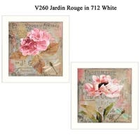 """""""Jardin Rouge"""" Collection By Color Bakery, Printed Wall Art, Ready To Hang Framed Poster, White Frame"""
