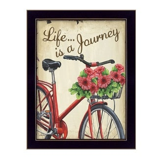 """Life is a Journey"" By Debbie DeWitt, Printed Wall Art, Ready To Hang Framed Poster, Black Frame"