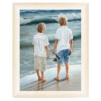 """""""Going Fishing"""" By Georgia Janisse, Printed Wall Art, Ready To Hang Framed Poster, White Frame"""
