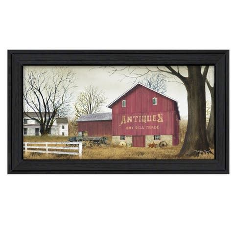 """""""Antique Barn"""" By Billy Jacobs, Ready to Hang Framed Wall Art, Black Frame"""