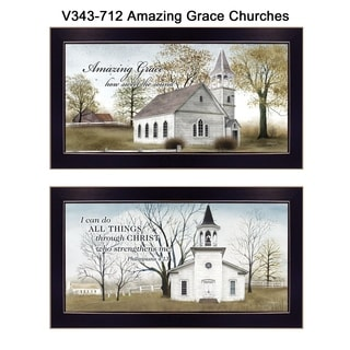 """Amazing Grace"" Collection By Billy Jacobs, Printed Wall Art, Ready To Hang Framed Poster, Black Frame"