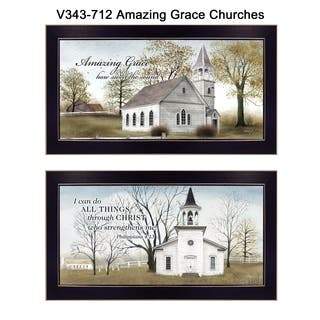"""""""Amazing Grace"""" Collection By Billy Jacobs, Printed Wall Art, Ready To Hang Framed Poster, Black Frame"""