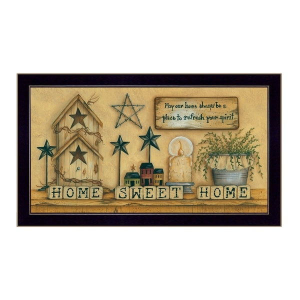 """Home Sweet Home"" By Mary June, Printed Wall Art, Ready To Hang Framed Poster, Black Frame"