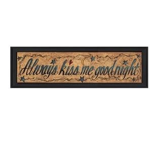 """""""Always Kiss Me Goodnight"""" By Gail Eads, Printed Wall Art, Ready To Hang Framed Poster, Black Frame"""