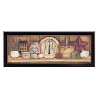 """Shelf Gathering"" By Mary June, Printed Wall Art, Ready To Hang Framed Poster, Black Frame"