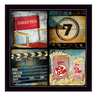 """At The Movies"" By Mollie B., Printed Wall Art, Ready To Hang Framed Poster, Black Frame"