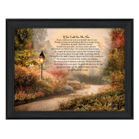 """""""If You Could See Me Now"""" By Robin-Lee Vieira, Ready to Hang Framed Wall Art, Black Frame"""