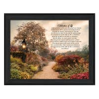 """""""Celebration of Life"""" By Robin-Lee Vieira, Printed Wall Art, Ready To Hang Framed Poster, Black Frame"""