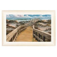 """""""Walkover"""" By Georgia Janisse, Printed Wall Art, Ready To Hang Framed Poster, White Frame"""
