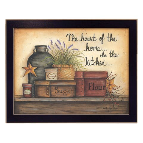 """""""Heart of the Home"""" By Mary June, Ready to Hang Framed Wall Art, Black Frame"""