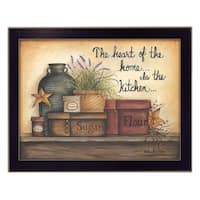 """Heart of the Home"" By Mary June, Printed Wall Art, Ready To Hang Framed Poster, Black Frame"