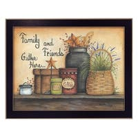 """Family and Friends"" By Mary June, Printed Wall Art, Ready To Hang Framed Poster, Black Frame"