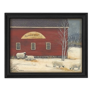 """""""Hartwick Wool Co"""" By Pam Britton, Printed Wall Art, Ready To Hang Framed Poster, Black Frame"""