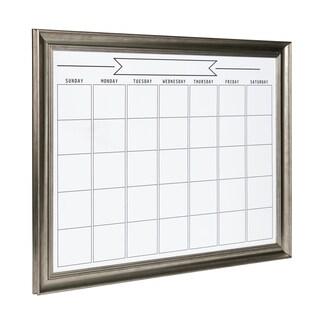 DesignOvation Macon Framed Magnetic Dry Erase Monthly Calendar (Option: Silver)