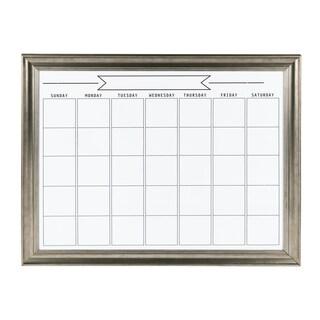 DesignOvation Macon Framed Magnetic Dry Erase Monthly Calendar