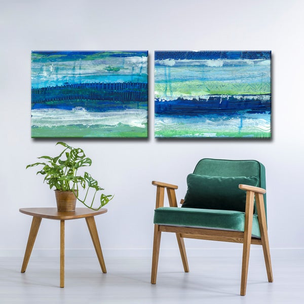 Max+E 'Deep & Deeper Ocean' 2 Piece Canvas Art Set